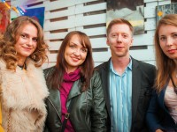Fryday networking in Kyiv's historic Podil district