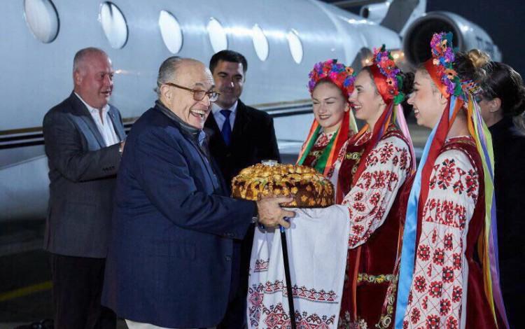 REGIONAL NEWS: Rudolf Giuliani reunited with Arnie's Terminator jacket in Kharkiv