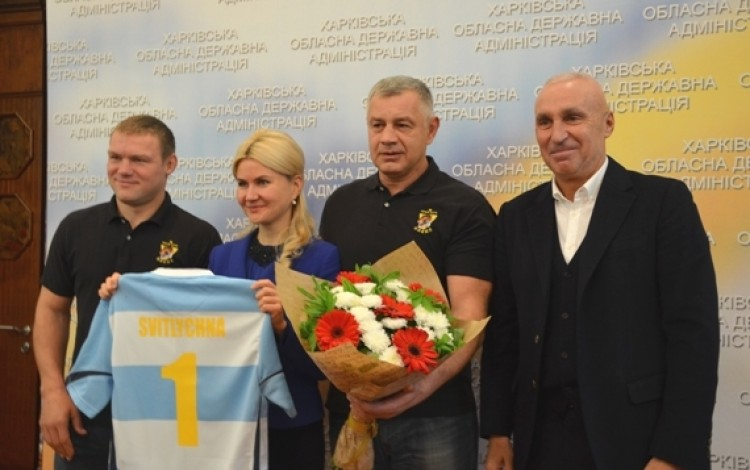 SPORT:  Kharkiv Governor honors Yaroslavsky's all-conquering rugby stars