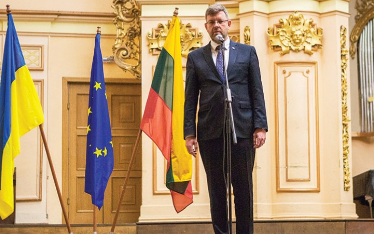 """There is a deep understanding that the security and stability of Ukraine is vital for Lithuania and for Europe as a whole"""
