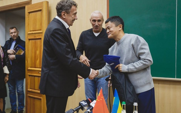 Yaroslavsky welcomes China's Alibaba tech legend Jack Ma to Kharkiv University