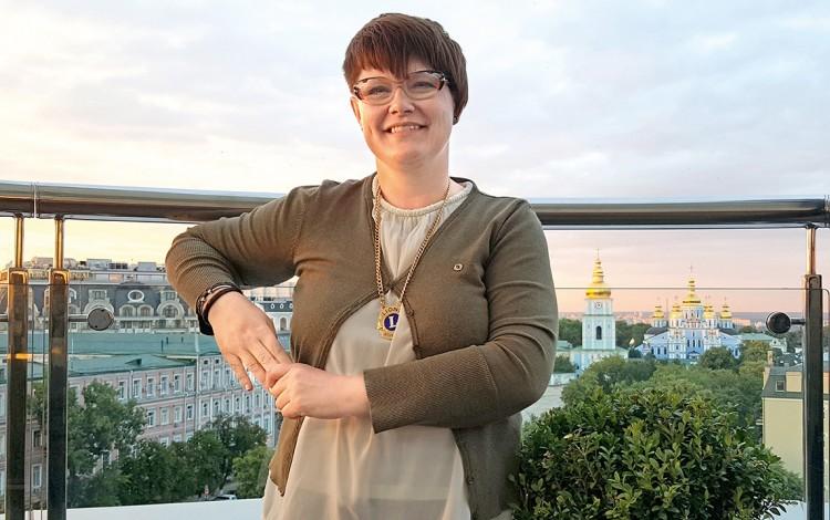 UKRAINIAN FUNDRAISING: Danish lioness Karen-Marie Kragelund elected new president of Kyiv Lions Club